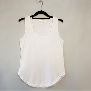 Club Monaco Basic Scoop Neck Tank Top - White - S